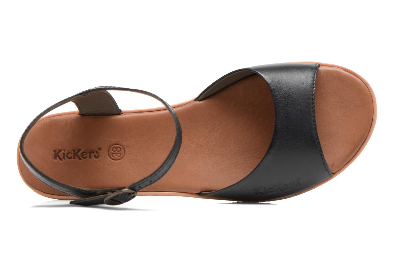 Sandales et nu-pieds Kickers Hypsi Noir vue gauche