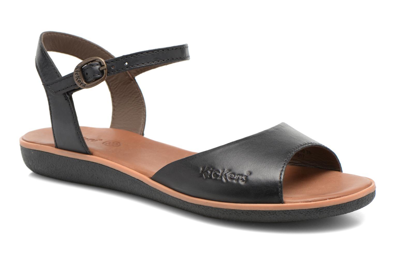 Sandales et nu-pieds Kickers Hypsi Noir vue détail/paire