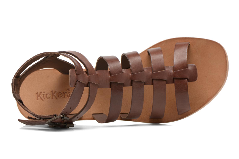 Sandales et nu-pieds Kickers Khôala Marron vue gauche