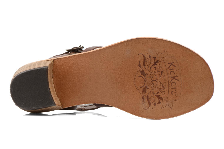 Sandales et nu-pieds Kickers Khôala Marron vue haut