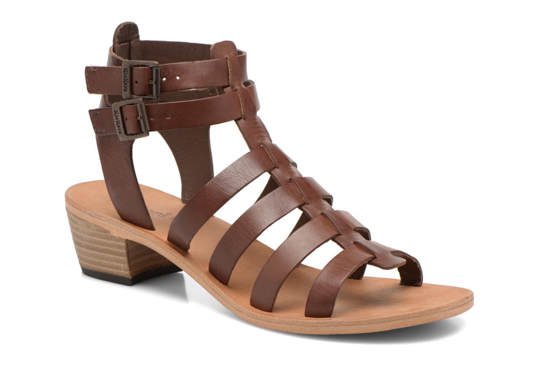 Sandales et nu-pieds Kickers Khôala Marron vue détail/paire