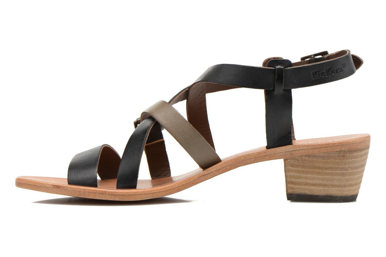 Sandales et nu-pieds Kickers Khôla Noir vue face