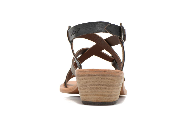 Sandales et nu-pieds Kickers Khôla Noir vue droite