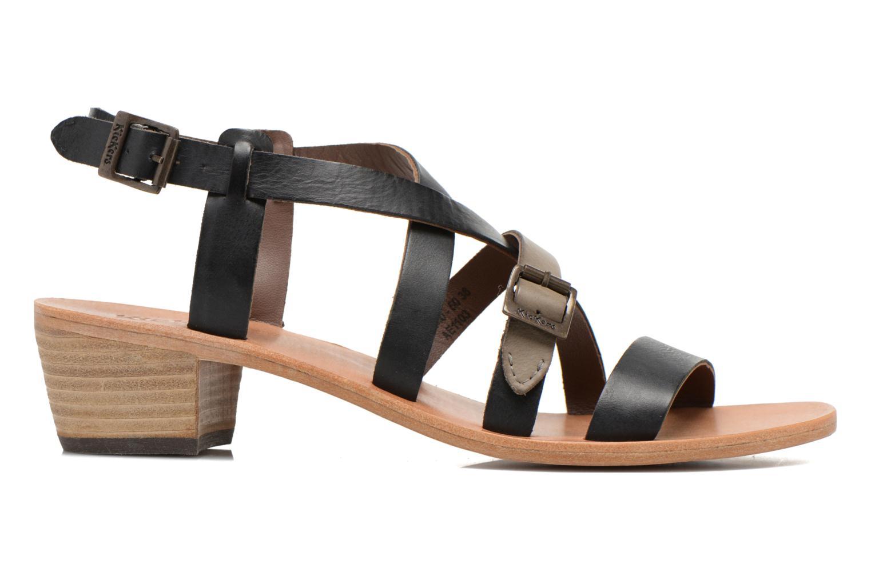 Sandales et nu-pieds Kickers Khôla Noir vue derrière