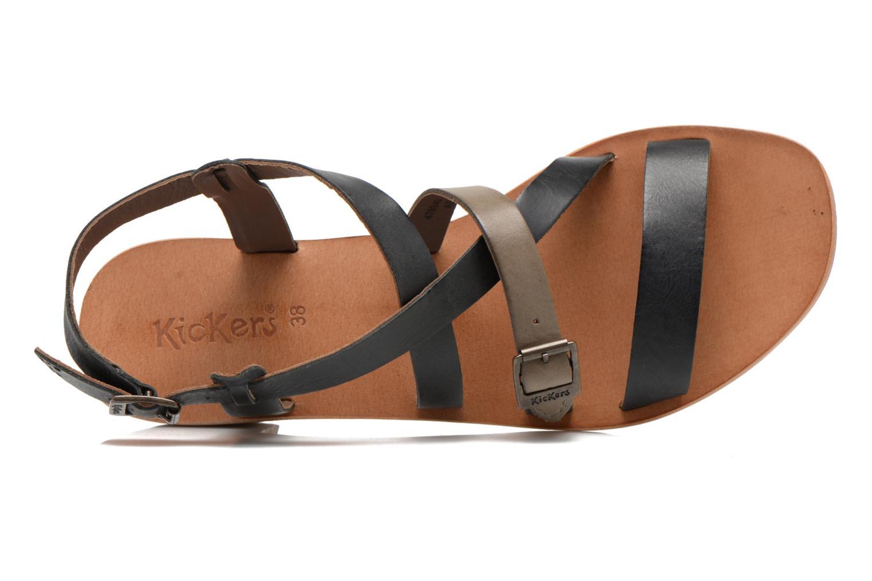 Sandales et nu-pieds Kickers Khôla Noir vue gauche
