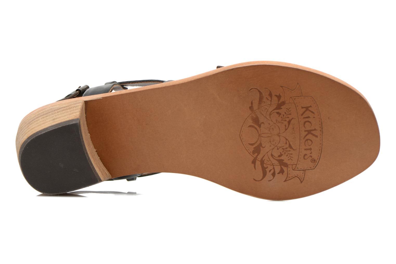 Sandales et nu-pieds Kickers Khôla Noir vue haut