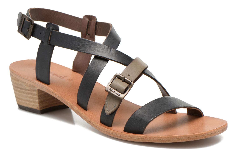 Sandales et nu-pieds Kickers Khôla Noir vue détail/paire