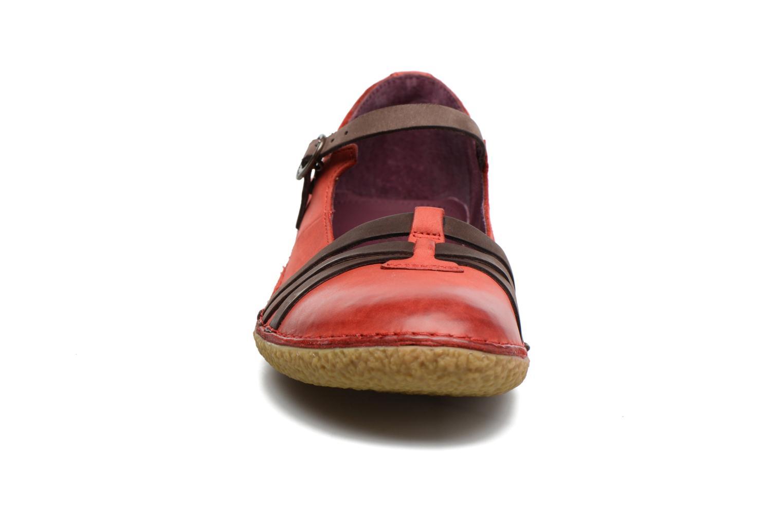 Ballerines Kickers Hibou Rouge vue portées chaussures