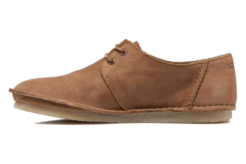 Zapatos con cordones Kickers Mystilace Marrón vista de frente