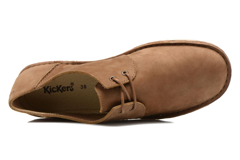 Zapatos con cordones Kickers Mystilace Marrón vista lateral izquierda