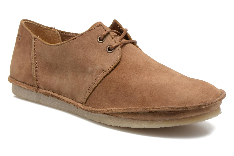 Zapatos con cordones Kickers Mystilace Marrón vista de detalle / par