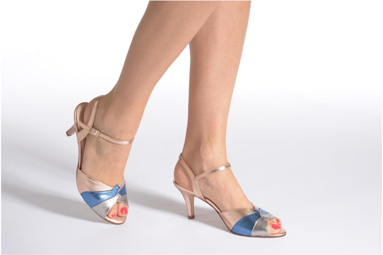 Sandales et nu-pieds Anna Volodia Amor Or et bronze vue bas / vue portée sac