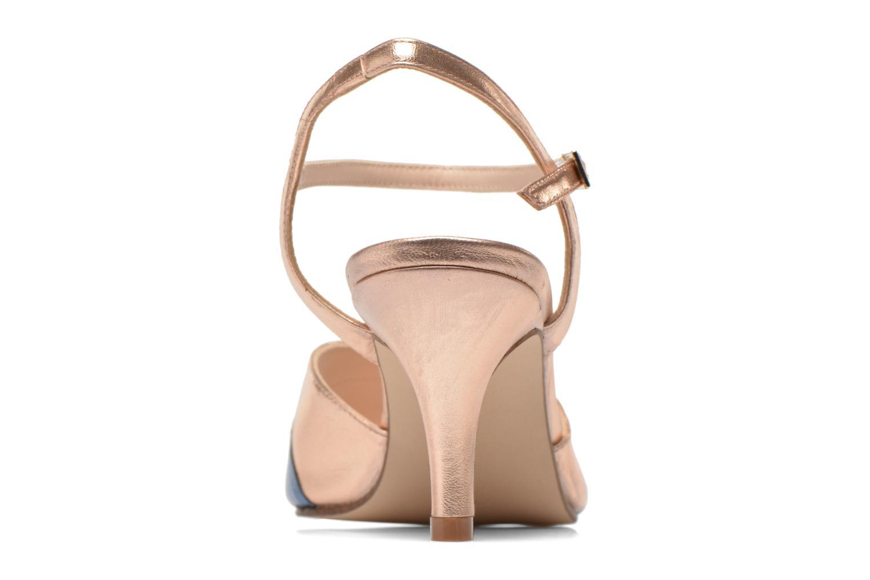Sandales et nu-pieds Anna Volodia Amor Or et bronze vue droite