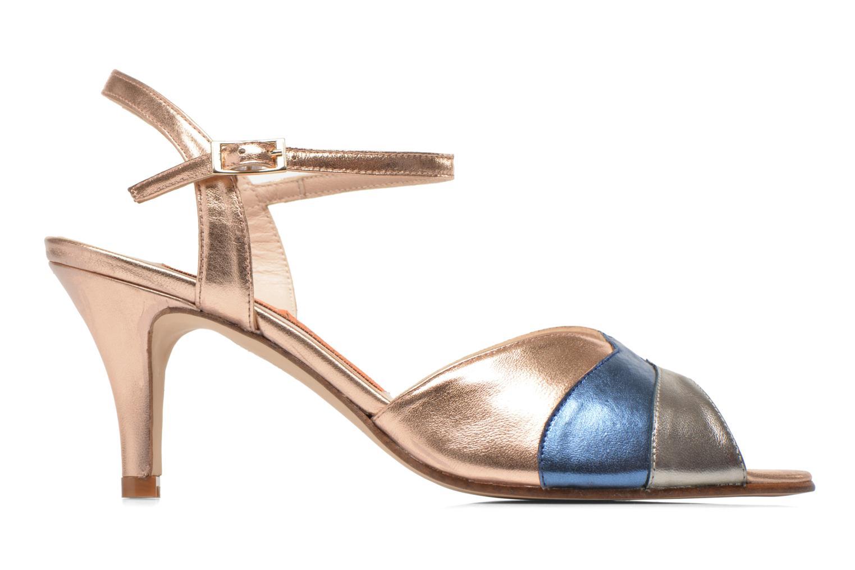 Sandales et nu-pieds Anna Volodia Amor Or et bronze vue derrière