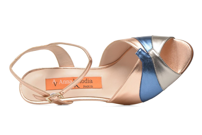 Sandales et nu-pieds Anna Volodia Amor Or et bronze vue gauche