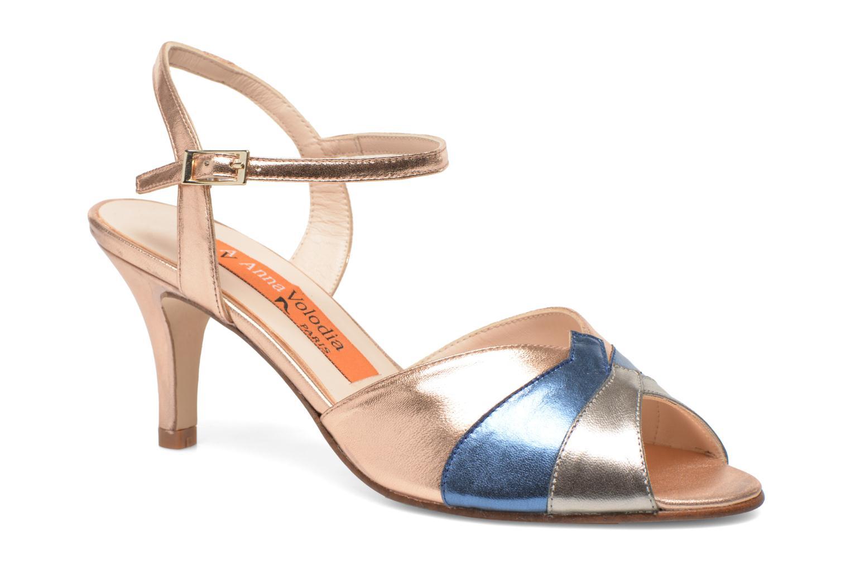 Sandales et nu-pieds Anna Volodia Amor Or et bronze vue détail/paire