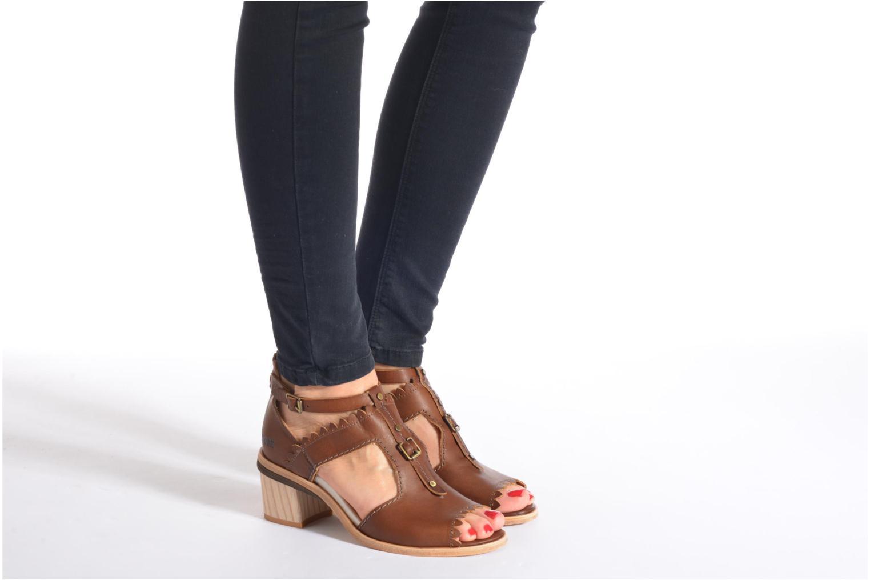 Sandales et nu-pieds Dkode Genie Rouge vue bas / vue portée sac