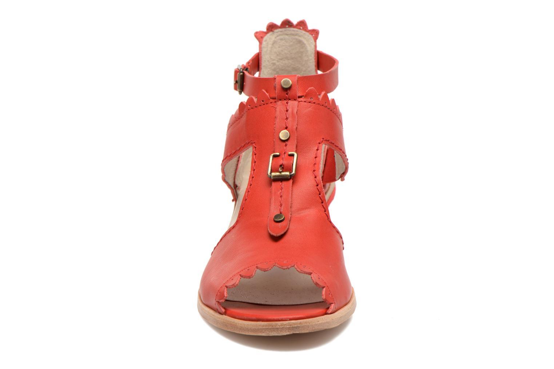 Sandales et nu-pieds Dkode Genie Rouge vue portées chaussures