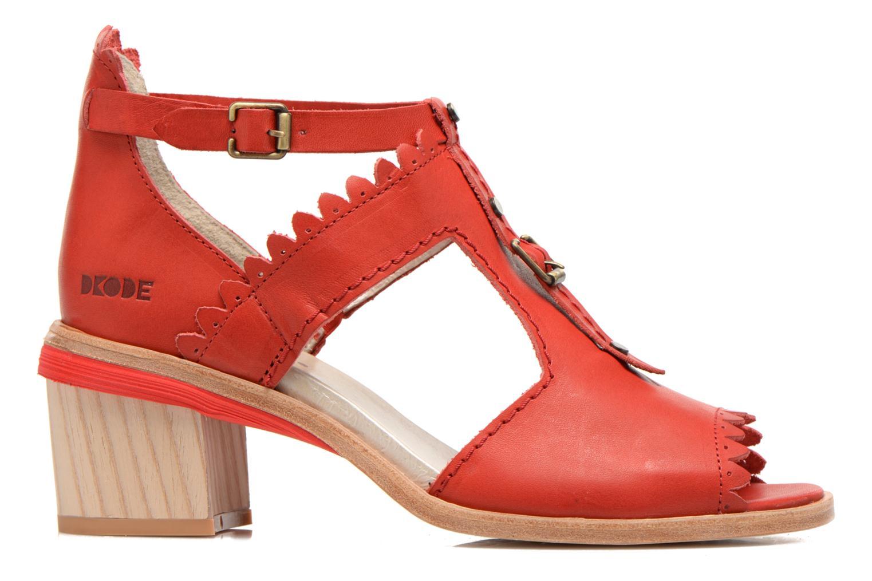 Sandales et nu-pieds Dkode Genie Rouge vue derrière