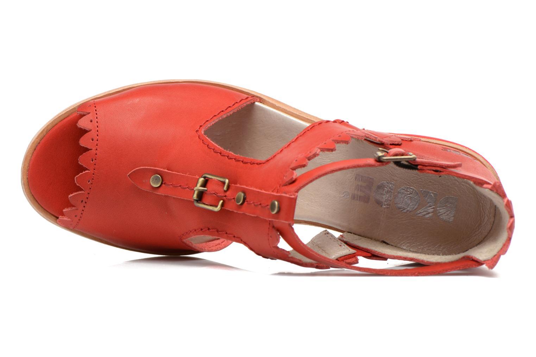 Sandalen Dkode Genie rot ansicht von links