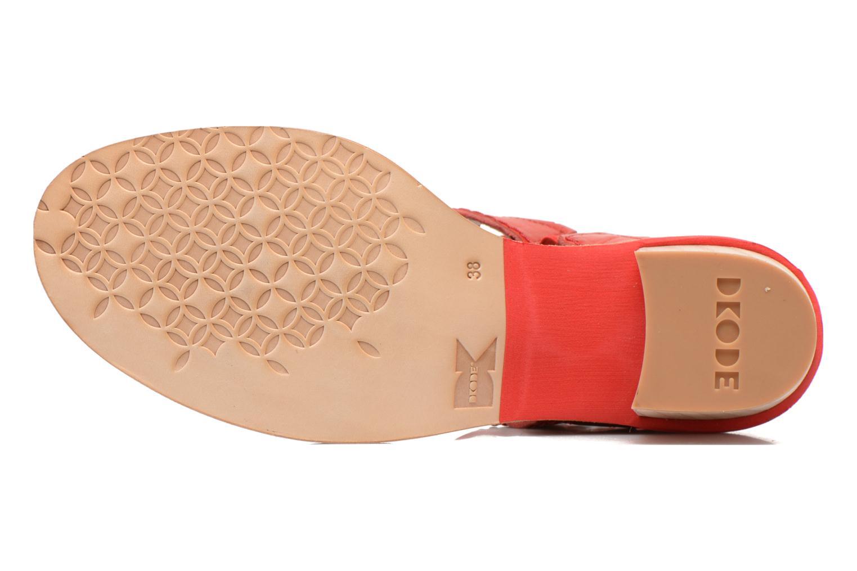 Sandalen Dkode Genie rot ansicht von oben