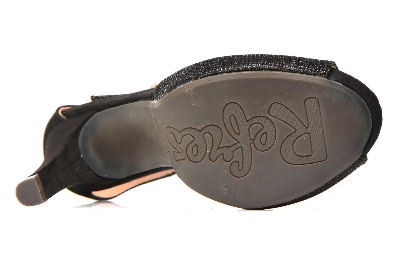 Sandales et nu-pieds Refresh Lena Noir vue haut