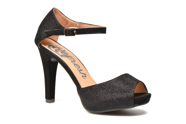 Sandales et nu-pieds Refresh Lena Noir vue détail/paire