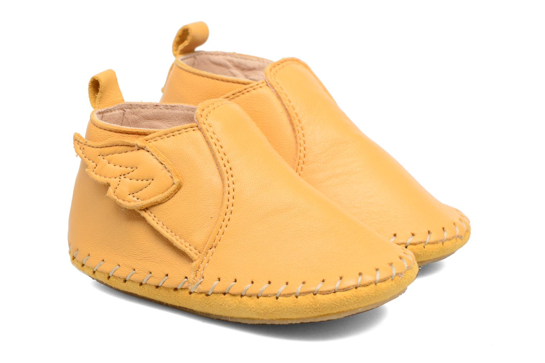 Hausschuhe Easy Peasy Bomok Aile gelb schuhe getragen