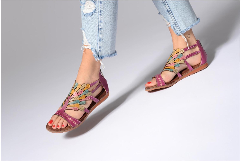 Sandales et nu-pieds Laura Vita Vaca Multicolore vue bas / vue portée sac