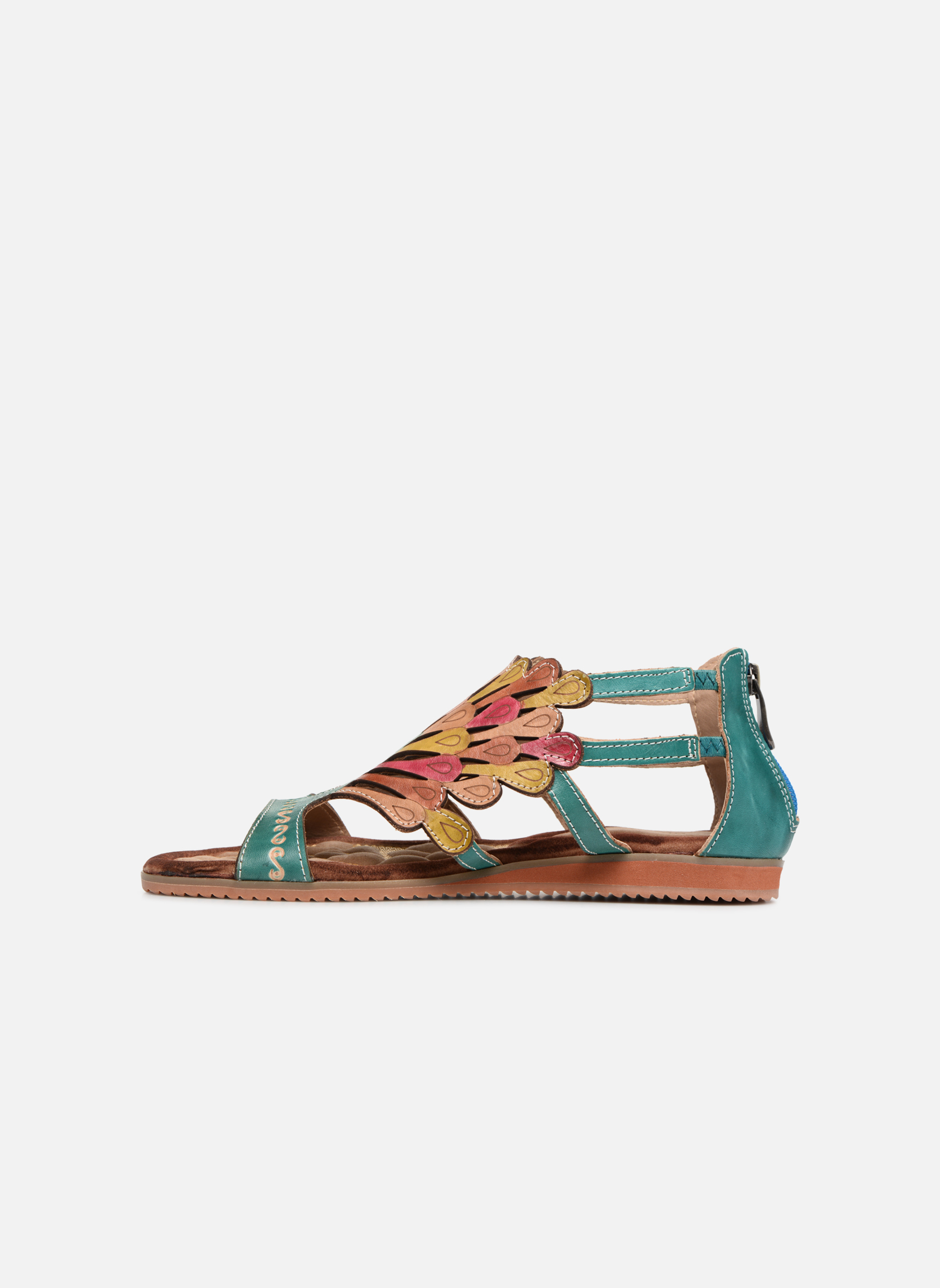 Sandales et nu-pieds Laura Vita Vaca Multicolore vue face
