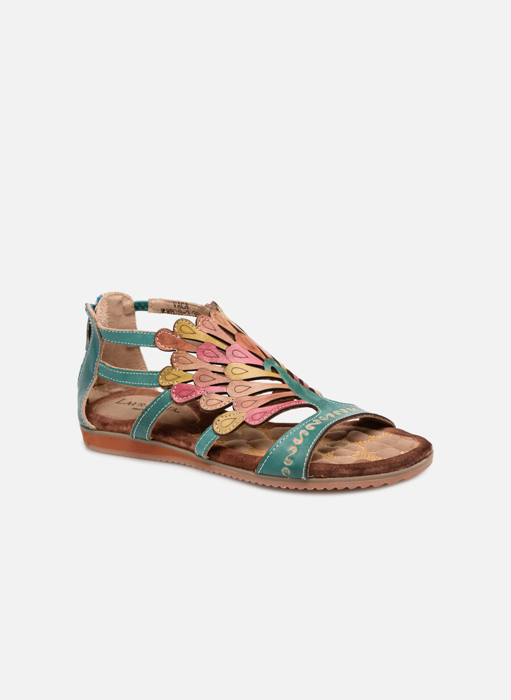 Sandals Laura Vita Vaca Multicolor detailed view/ Pair view