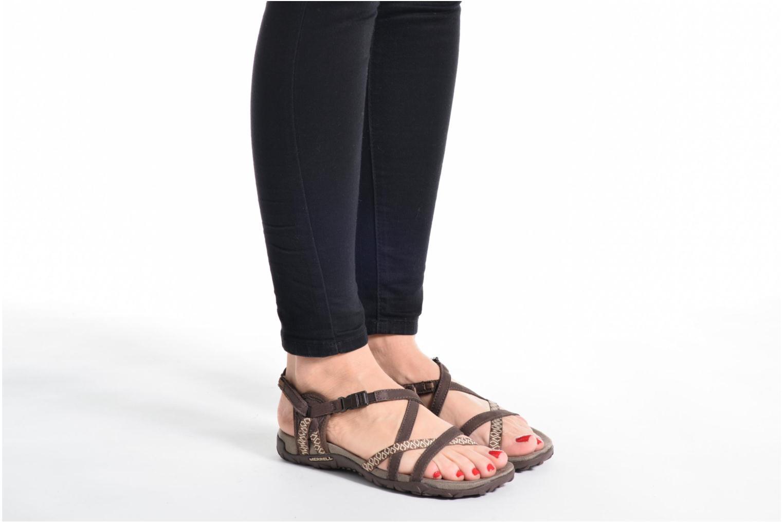 Chaussures de sport Merrell Terran Lattice II Bleu vue bas / vue portée sac
