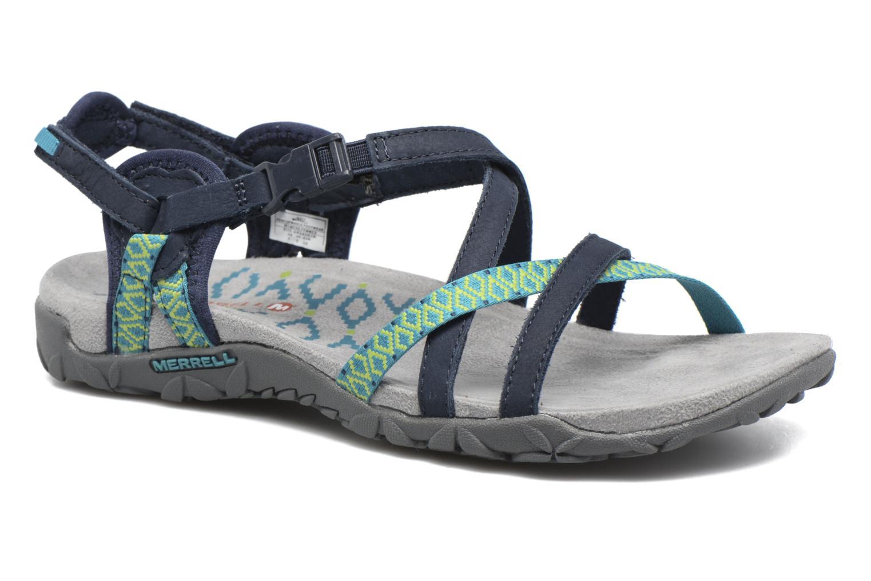 Chaussures de sport Merrell Terran Lattice II Bleu vue détail/paire