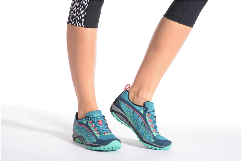Chaussures de sport Merrell Siren Edge Vert vue bas / vue portée sac