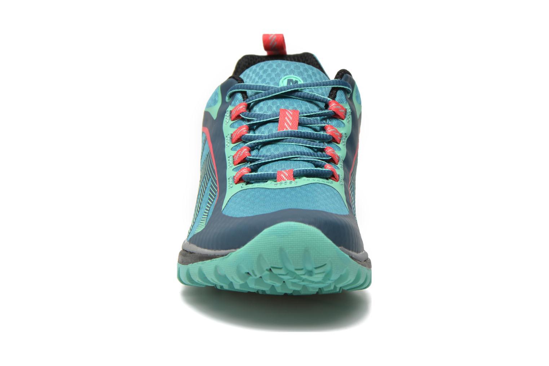 Chaussures de sport Merrell Siren Edge Vert vue portées chaussures