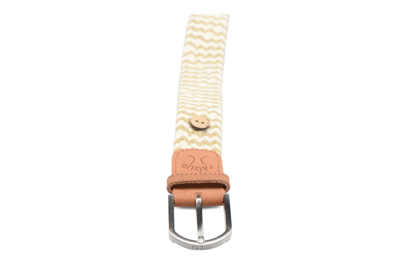 Belts Faguo Ceinture tressée bicolore Beige front view