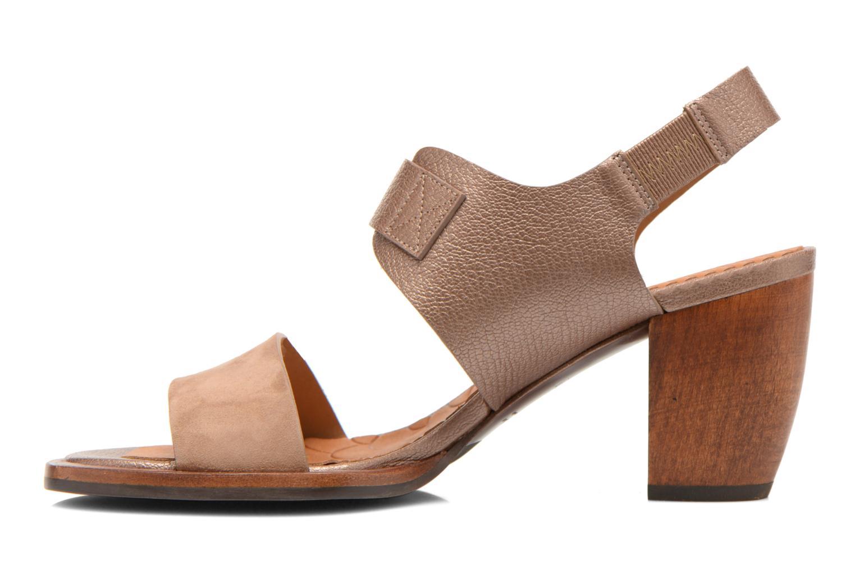Sandales et nu-pieds Chie Mihara Queva Or et bronze vue face