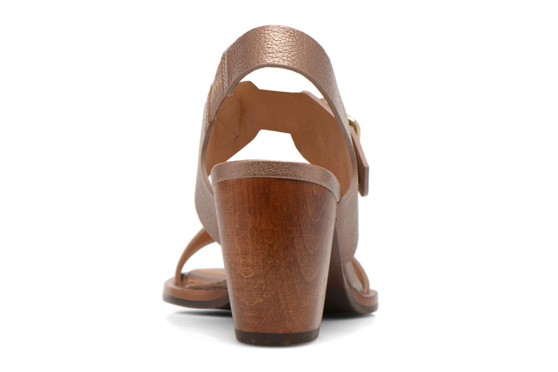 Sandales et nu-pieds Chie Mihara Queva Or et bronze vue droite