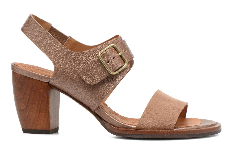 Sandales et nu-pieds Chie Mihara Queva Or et bronze vue derrière