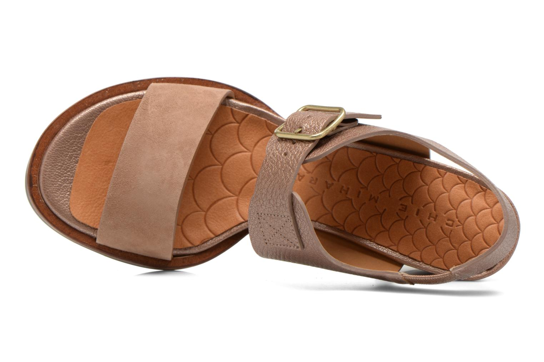 Sandales et nu-pieds Chie Mihara Queva Or et bronze vue gauche