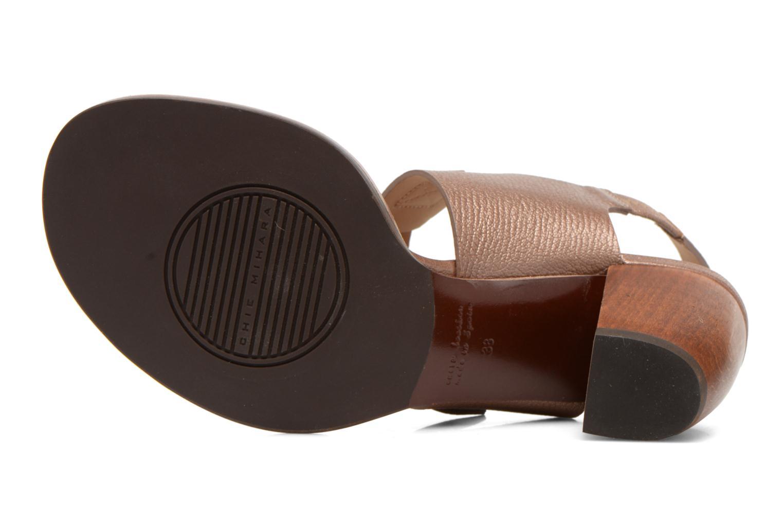 Sandales et nu-pieds Chie Mihara Queva Or et bronze vue haut