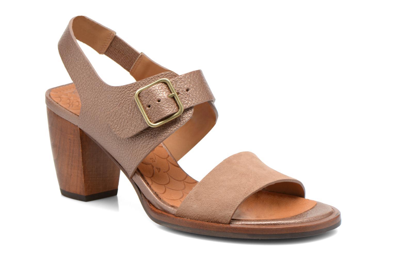 Sandales et nu-pieds Chie Mihara Queva Or et bronze vue détail/paire