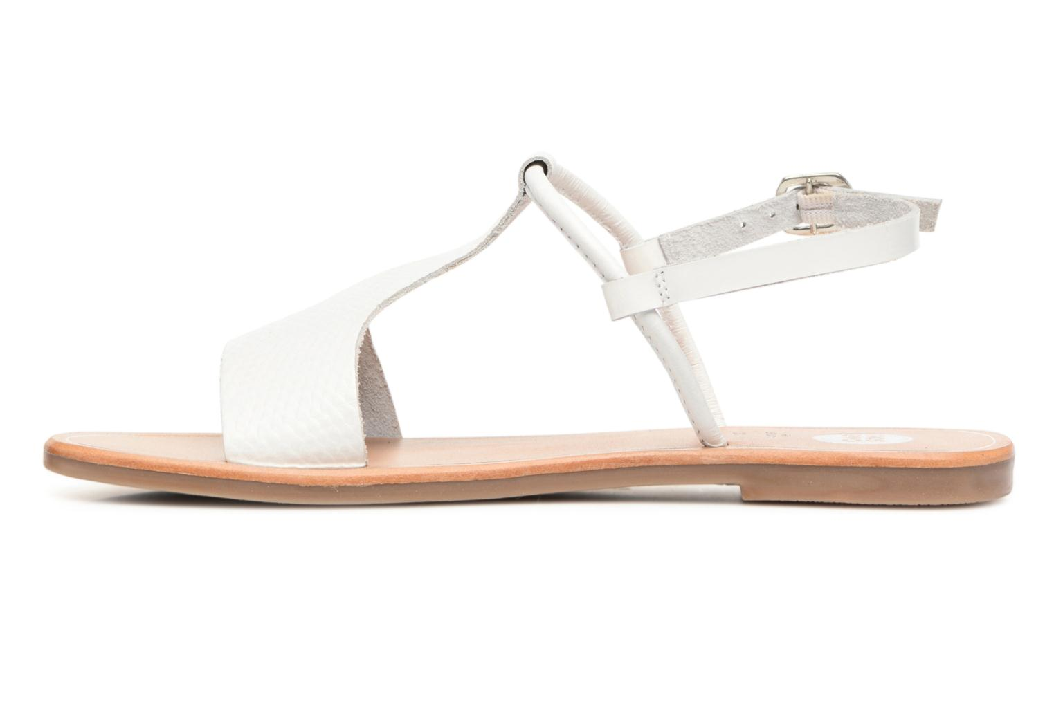 Sandals Gioseppo Bavana White front view
