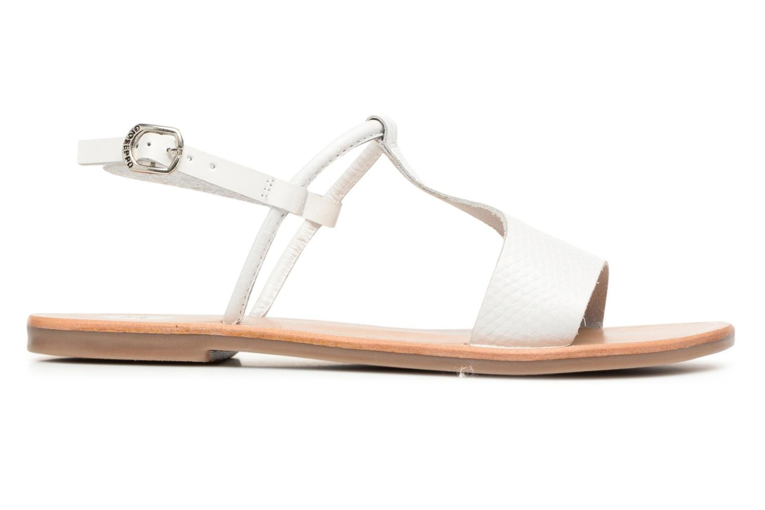 Sandals Gioseppo Bavana White back view