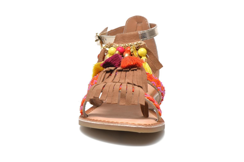 Sandales et nu-pieds Gioseppo Dima Marron vue portées chaussures
