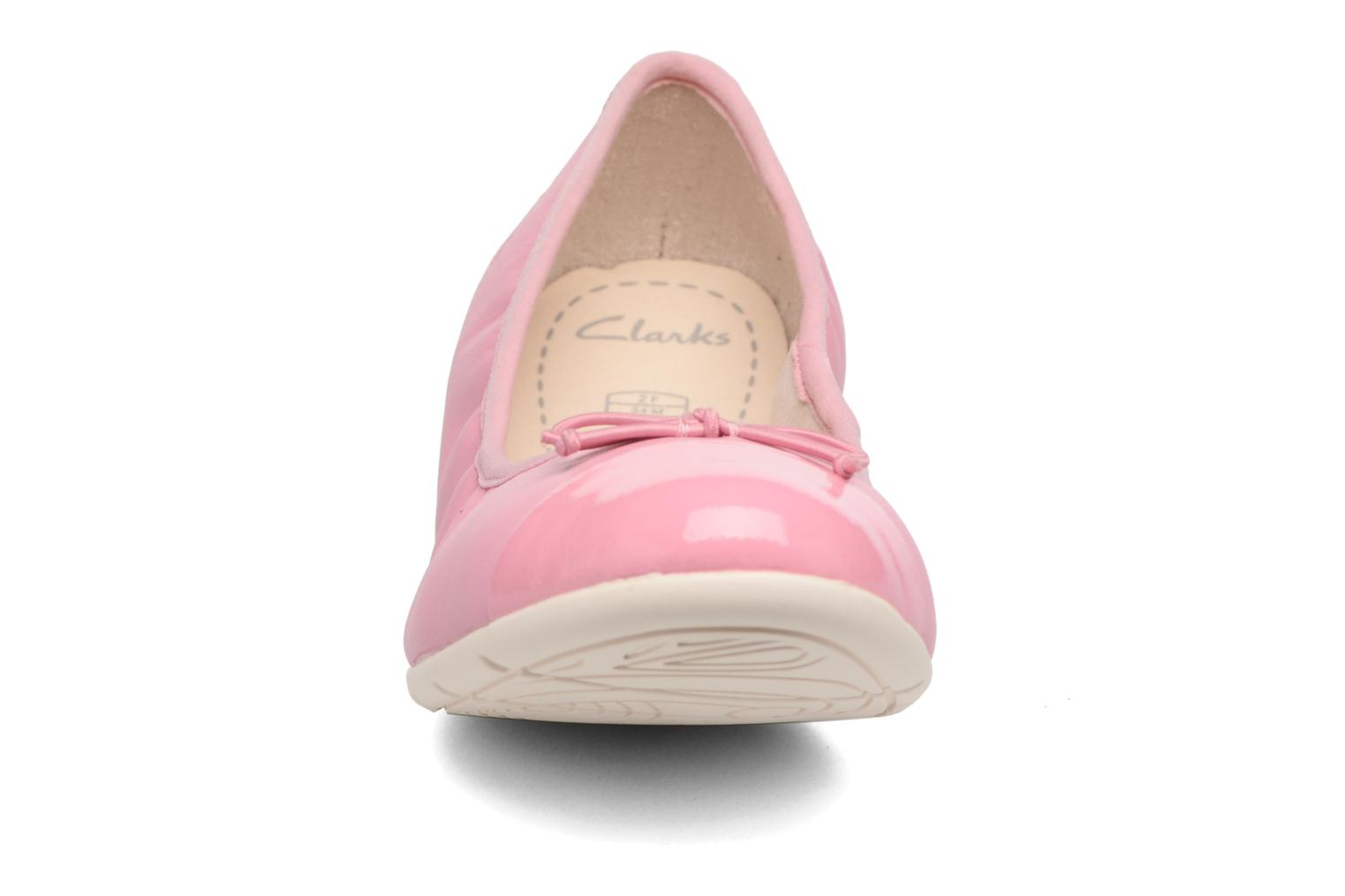 Ballet pumps Clarks Dance Puff Jnr Pink back view