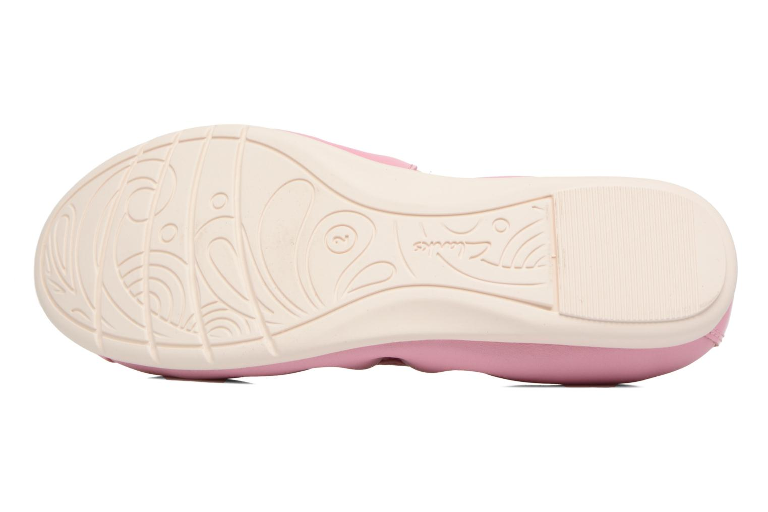 Ballet pumps Clarks Dance Puff Jnr Pink view from above