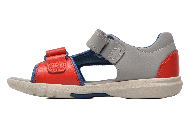 Sandales et nu-pieds Clarks FlyingSolo Inf Rouge vue face