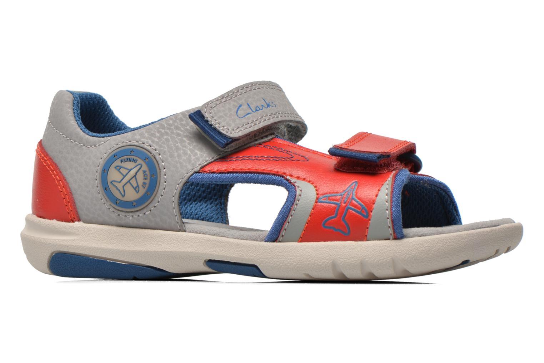 Sandales et nu-pieds Clarks FlyingSolo Inf Rouge vue derrière
