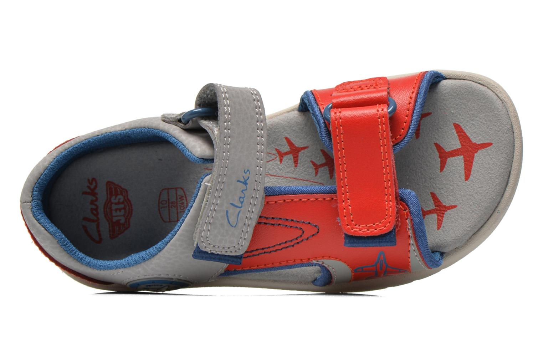Sandales et nu-pieds Clarks FlyingSolo Inf Rouge vue gauche